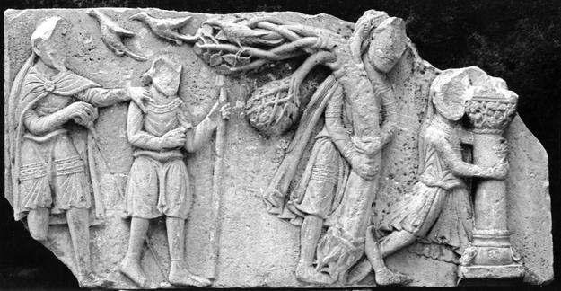 A fragment of a Romanesque carving, 1990