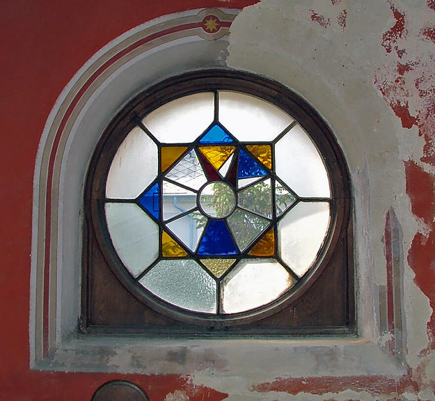 Detail of a stained glass window, 2003