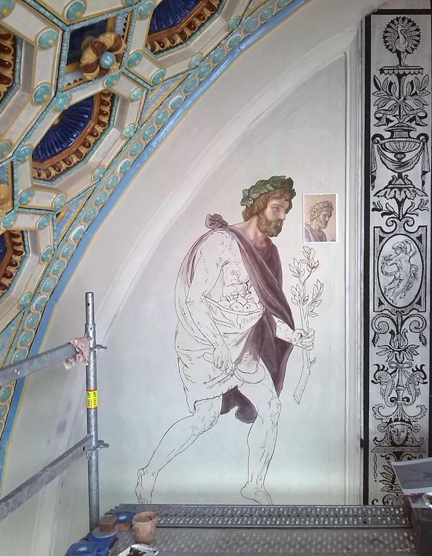 Restoration of interior decoration, 2014