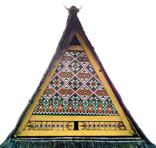 Roof painting on Gerga House, 2012