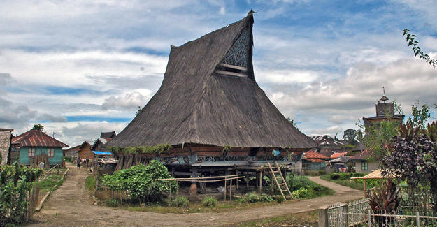 Rumah adat, or traditional house, conserved by community efforts, 2008