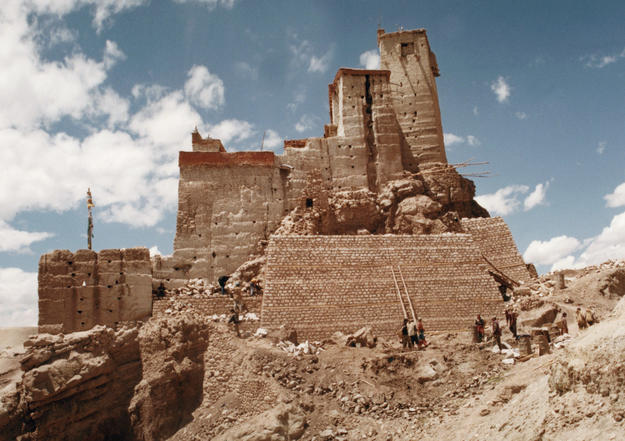 The mud-brick fortress perched high in the hills of Ladakh, 2002