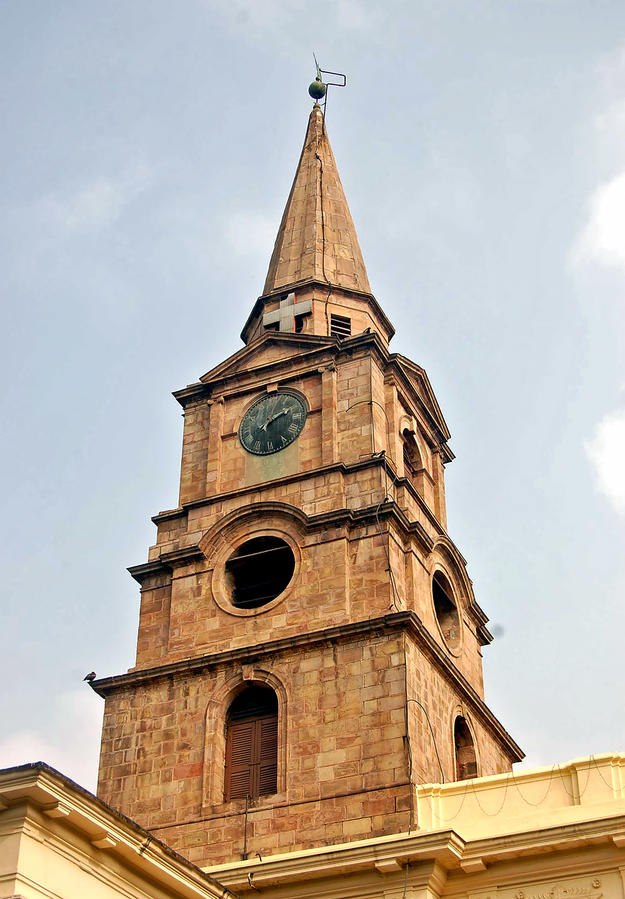 Steeple, modeled after St. Martin's-in-the-Fields in London, after cleaning , 2008