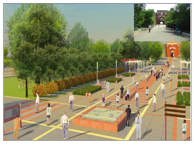 Design by INTACH Delhi for the Purana Qila entrance, 2009