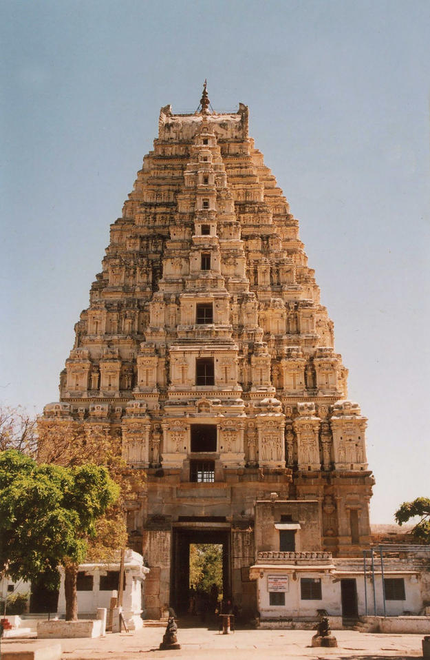 Façade of Virupaksha Temple, 2006