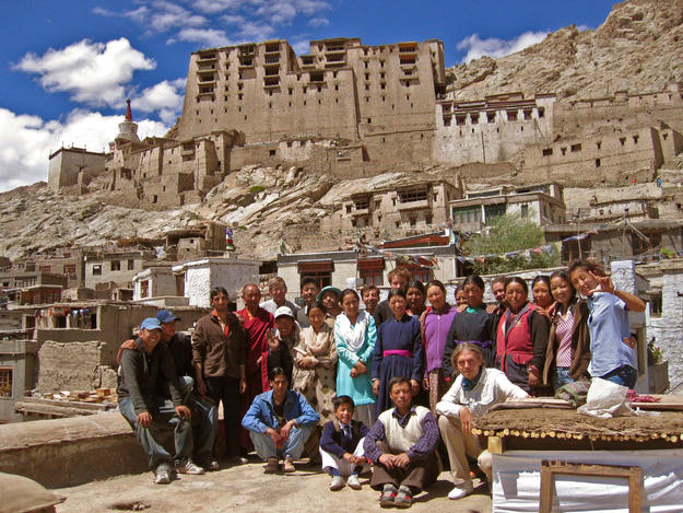 Conservation team with local artisans, 2005
