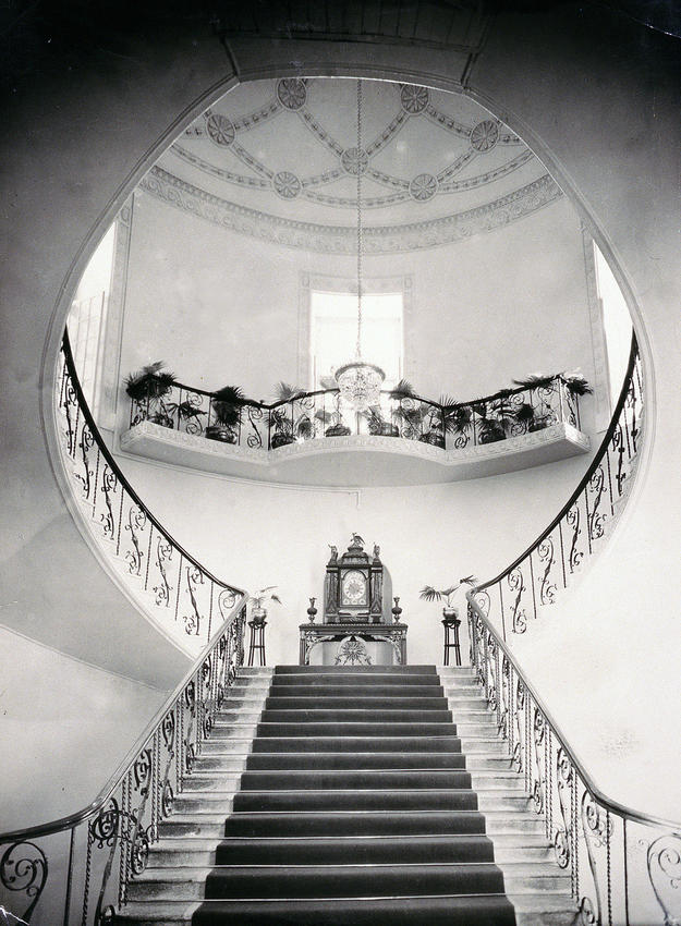 Archival image of the stairway, 1930
