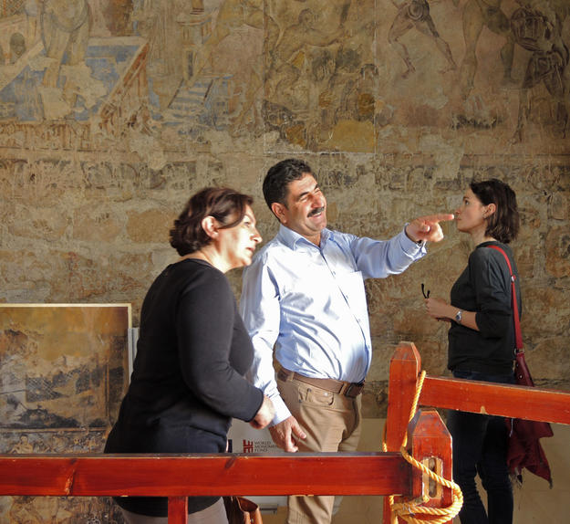 Dr. Abdullah and training participants visit Qusayr 'Amra in Jordan, 2014