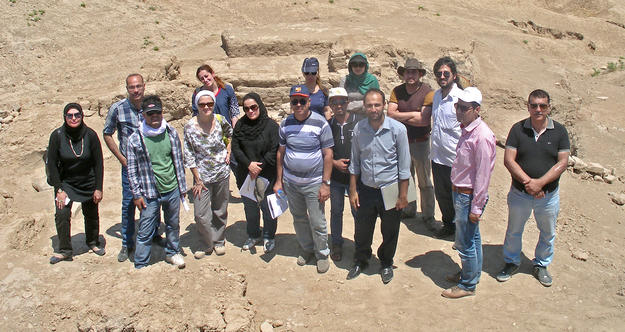 Training program participants visit Qasr Shemamok, Kurdistan, Iraq, 2014