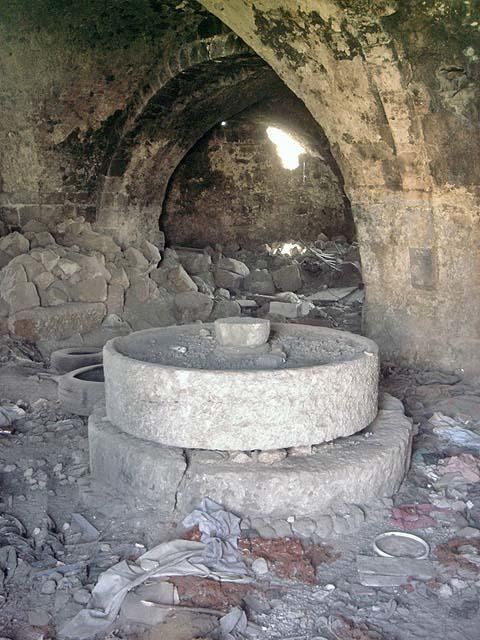 The old olive press retains some historic features, 2008