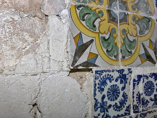 Detail of tile, June 21, 2009