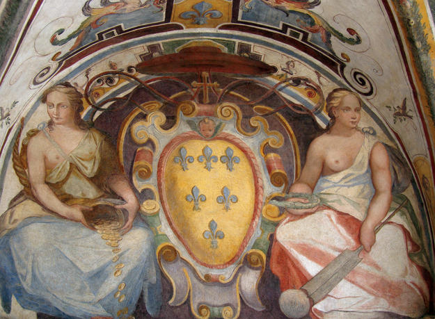 The arms of the Farnese family, 2012