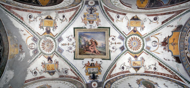 The ceiling of the Lower Loggia after conservation, 2013