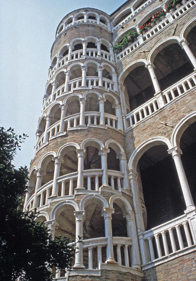 Spiraling arcades after conservation, 1996