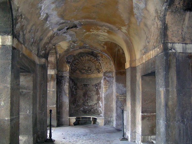 The Cryptoporticus in front of the Nymphaeum, 2006