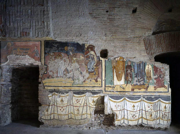 Wall paintings of the Chapel of Theodotus after conservation , 2005
