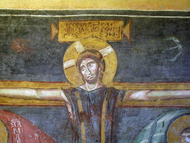 Detail of a wall painting after conservation, 2006