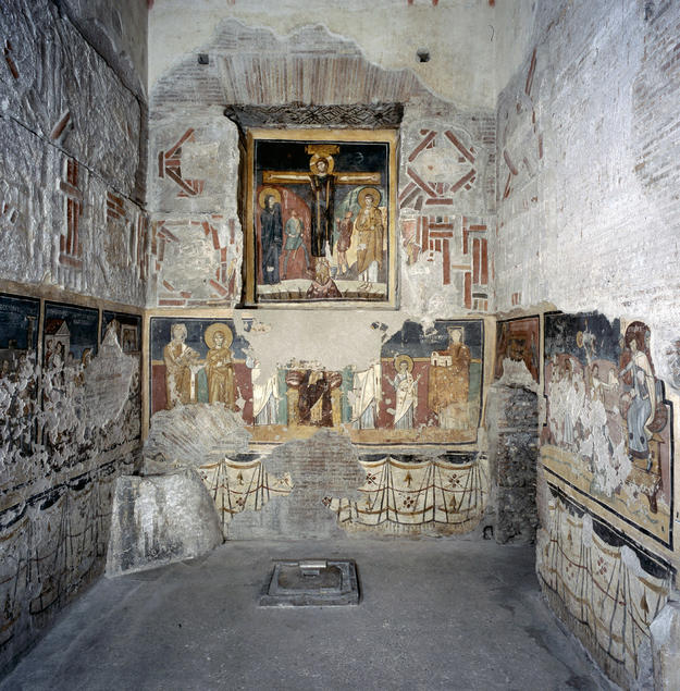 Byzantine-style wall paintings in the Chapel of Theodotus, 2013