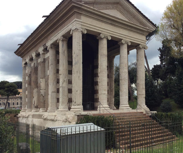 Portico from an angle, 2014