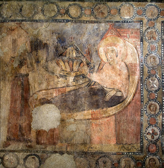 Detail of one of the frescoes, 2007