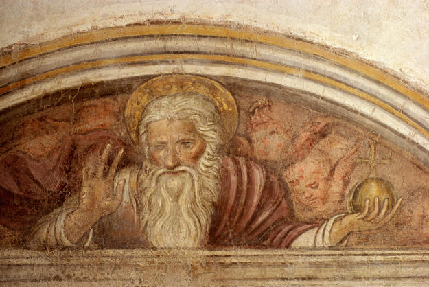 Detail of the figure from the top of the fresco program, 2000