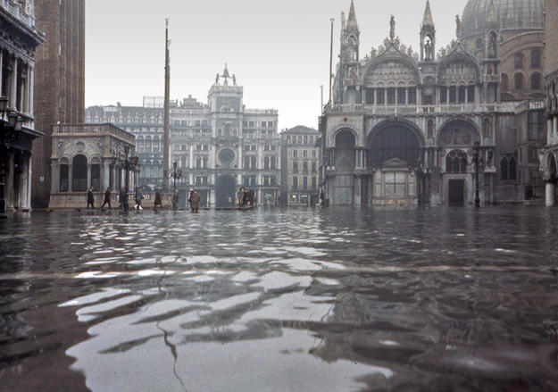Venice after the worst flood in its history, 1966