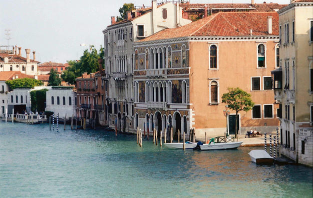 View of Venice from the canal, 2000