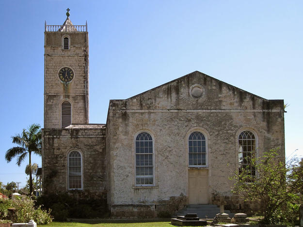 Side façade of St. Peter's Anglican Church , 2011