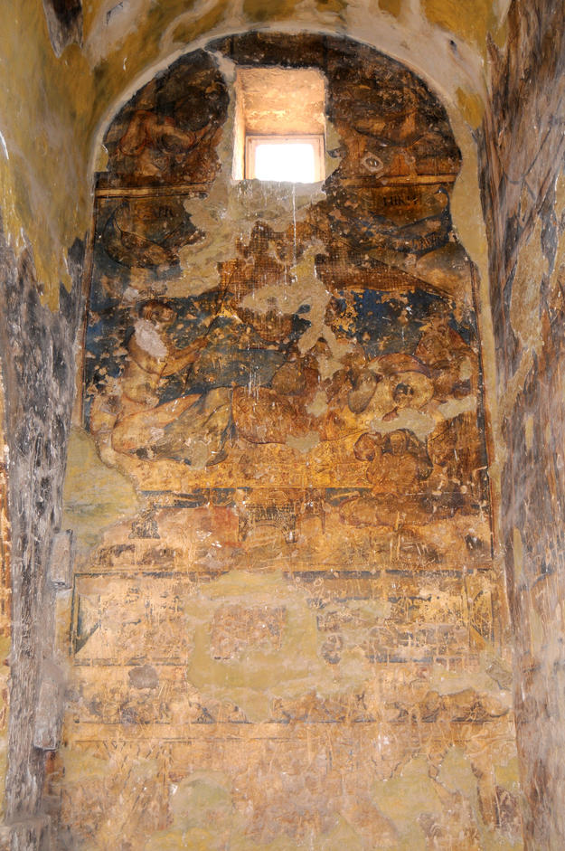 South wall of Room 1A before conservation, 2011