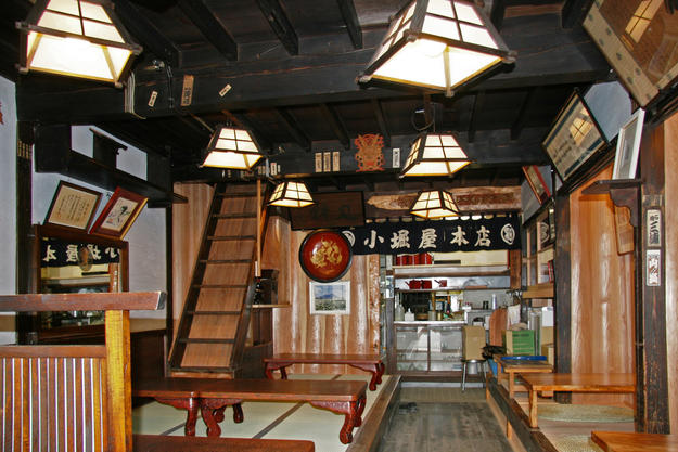 Kobori-Ya Main Shop with restored floors and reinforced columns, 2012