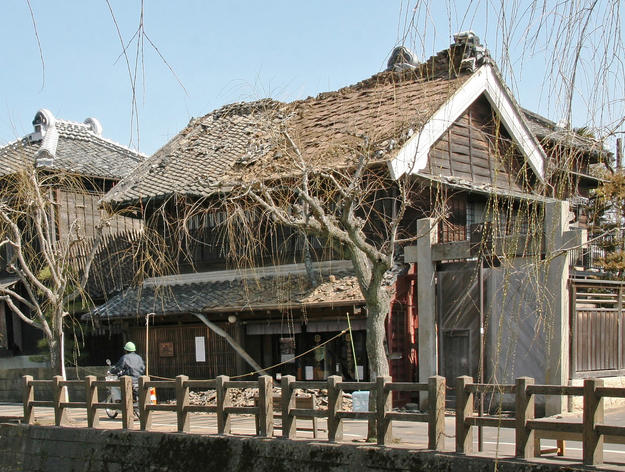 Sho-Jo Soy Sauce shop and warehouse after the earthquake , 2011