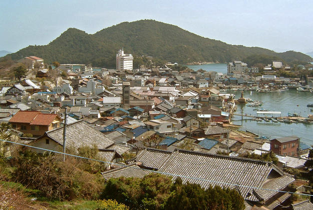 View of the townscape from the hill, 2004