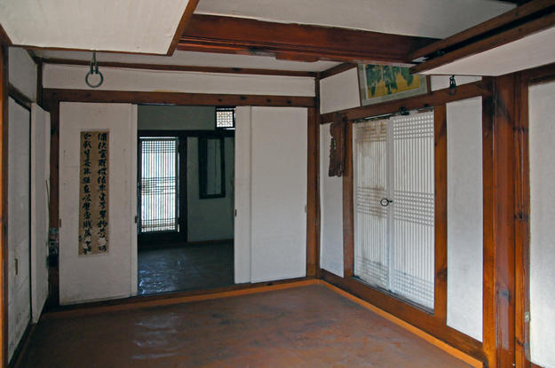 An interior view of Simwonjeong Pavilion , 2013