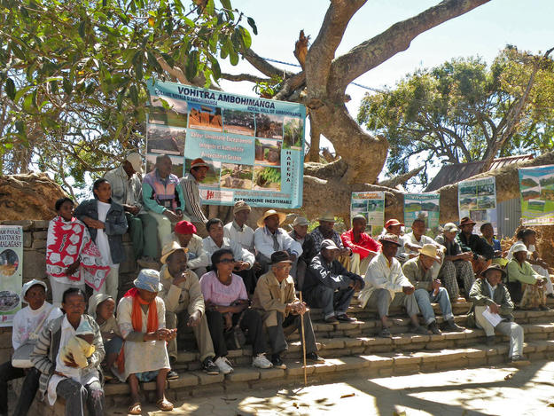 A community gathering at the site, 2012