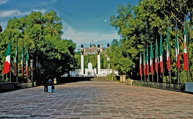 Altar to the Fatherland at Chapultepec Park, created by architect Enrique Aragón and sculptor Ernesto Tamariz, 2011
