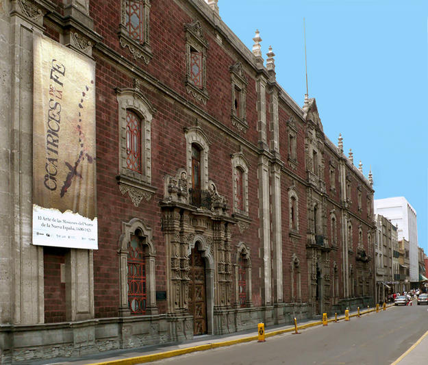 View of the south façade of the Antiguo Colegio de San Ildefonso, from Justo Sierra street, 2009
