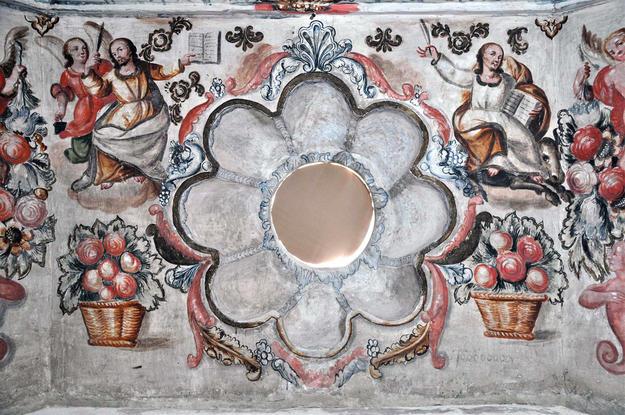 Camerin de la Virgen de Loreto murals after conservation, 2011