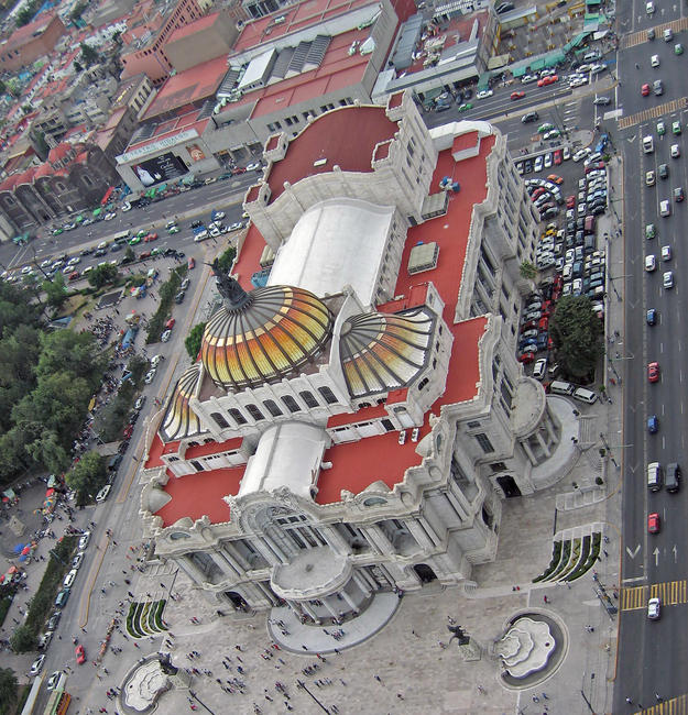 Aerial view of the Palace of Fine Arts, 2007