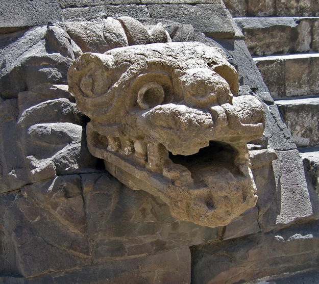 Detail from the Quetzalcoatl Temple, 2006