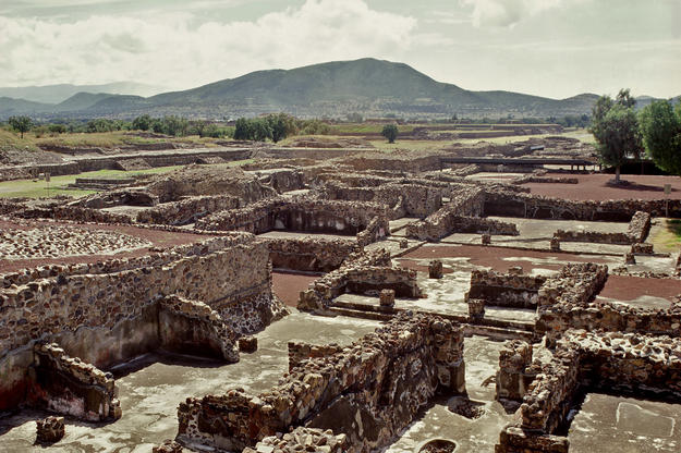Overview of the archaeological site, 1998