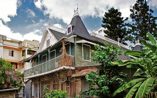 The Maison Marengo in Port-Louis, a traditional nineteenth-century building, is set to be demolished unless it can be moved to a new location, 2012