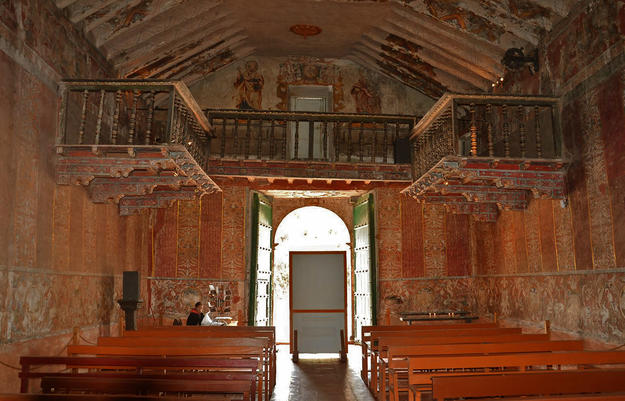 Interior view of the baroque chapel , 2014