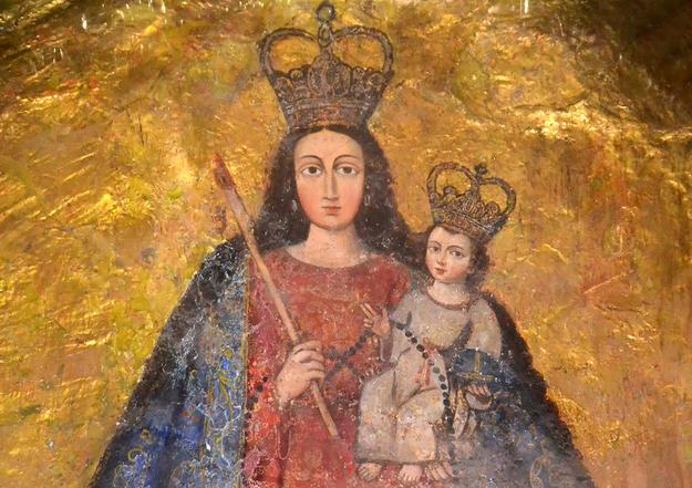 Mural painting of the Virgin de la Candelaria, 2014