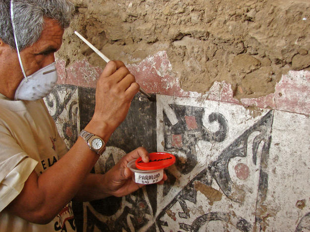 Conservator at work, 2010