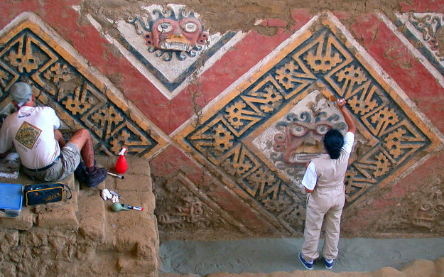 Conservators perform structural consolidation and cleaning , 2003