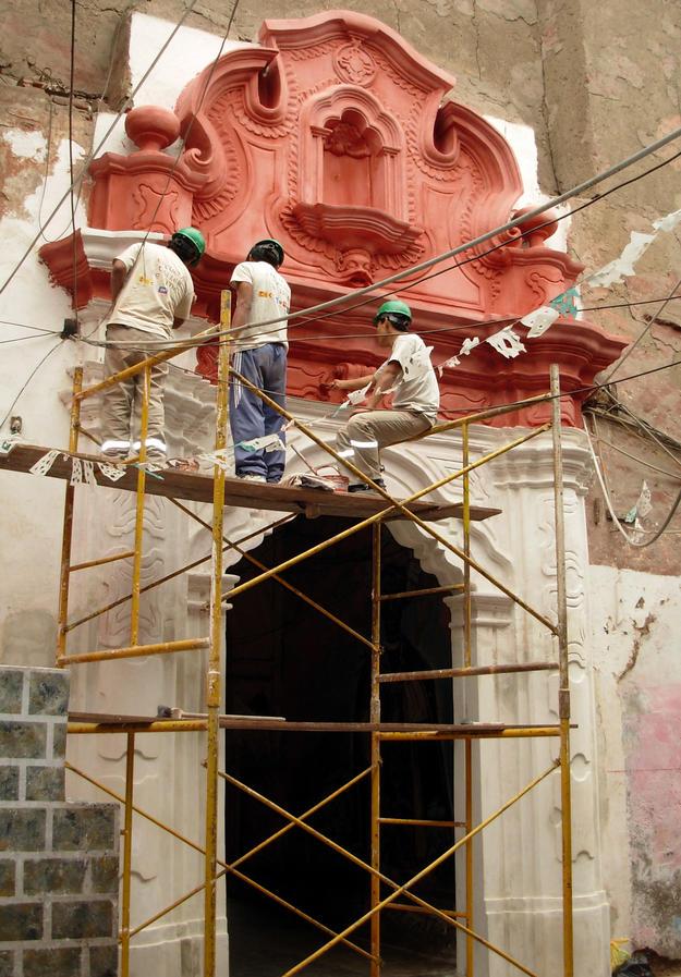 Portal of the La Casa de las Columnas after conservation, 2011