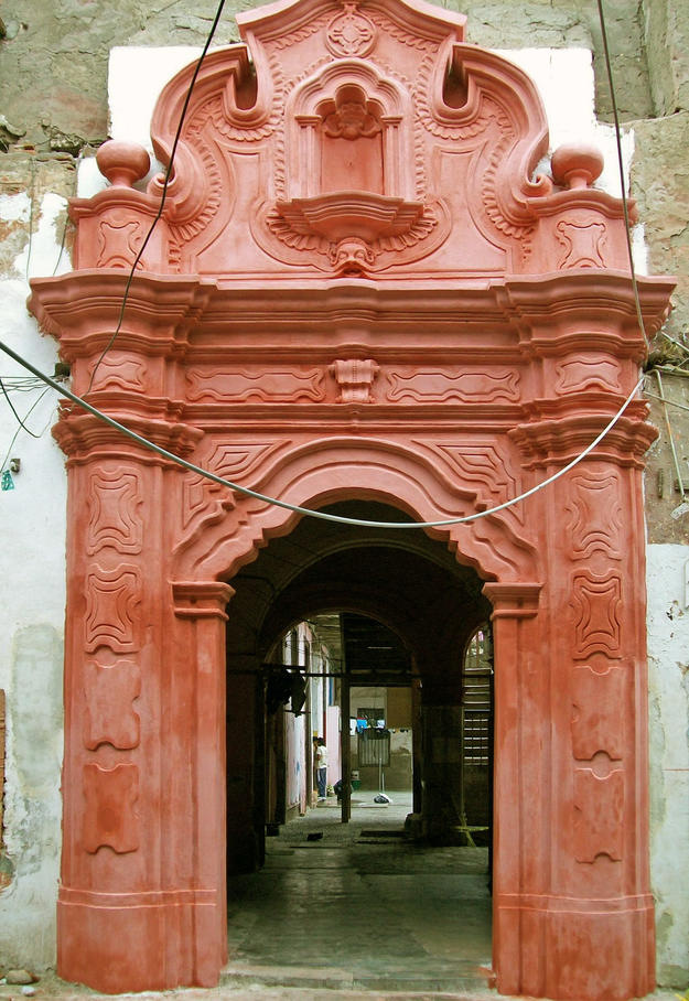 La Casa de las Columnas portal after conservation, 2011