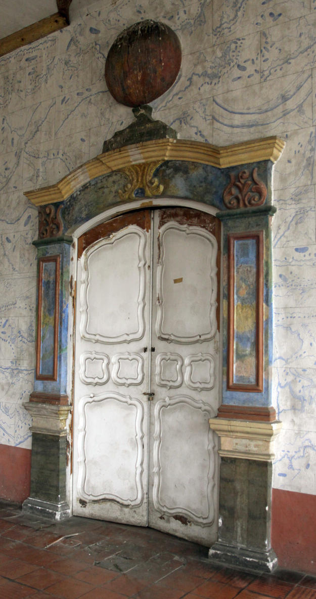 Late rococo style doorway, 2014