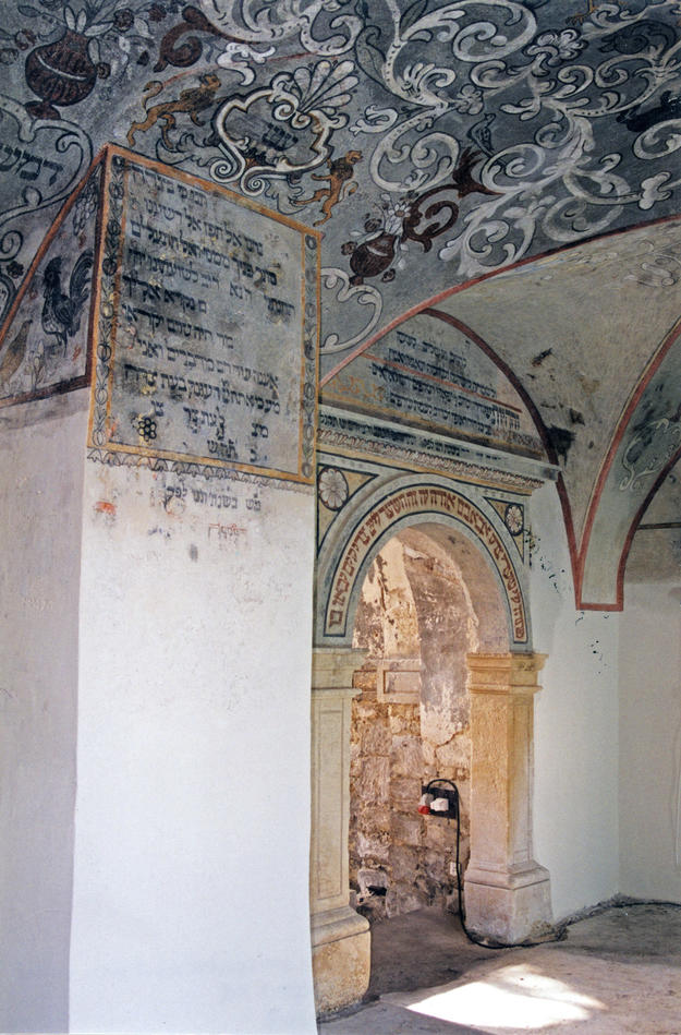 Murals in southern part of vault after conservation, 2002