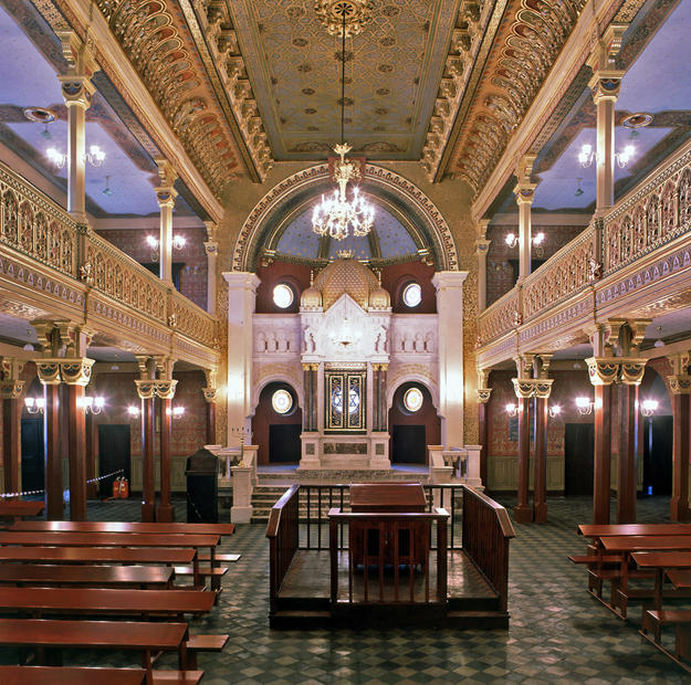 Main prayer hall and ark after conservation, 2000
